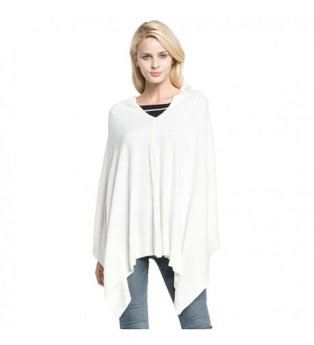 Vankerful Cashmere Asymmetric Pullover DFS087White