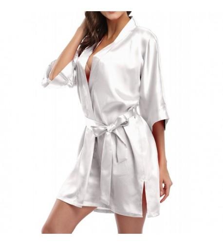 Womens Soft and Warm Fleece Bathrobe Kimono Spa Robe Unisex S-XXL ... 05cc2886b