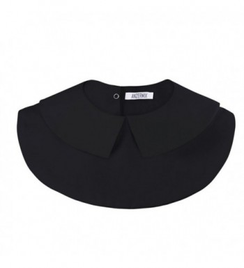 Anzermix Detachable Dickey Pointed Collar Black