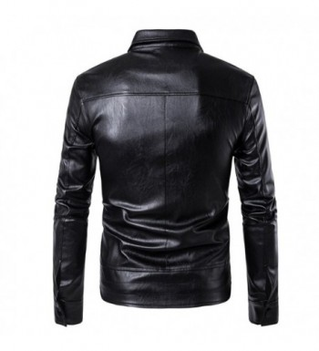 Discount Real Men's Faux Leather Jackets Clearance Sale