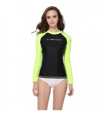 Protection Long Sleeve Rashguard Green ilishop XL US8 10