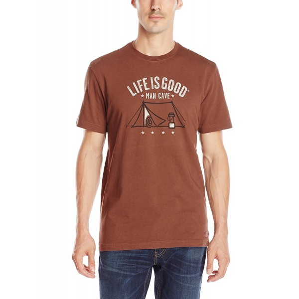Life Equipped Crusher T Shirt Chestnut