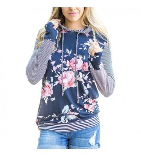 Striped Pullover Fashion Sweatshirts 4X Large