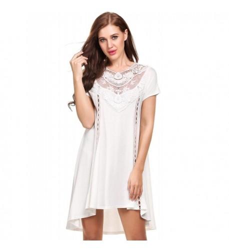 b4f7e680c4da Women's Off The Shoulder Damask Fringe Tunic Mini Dress Boho Chic ...
