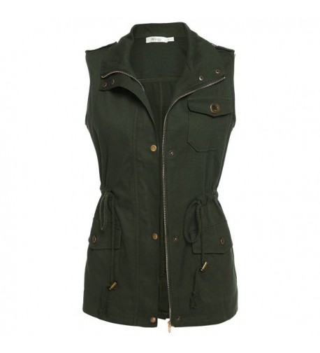 Meaneor Womens Lightweight Sleeveless Military