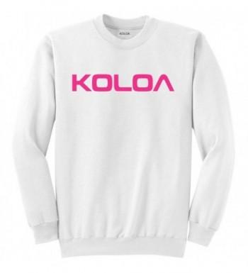 Koloa Classic Crewneck Sweatshirt White pink 4XL