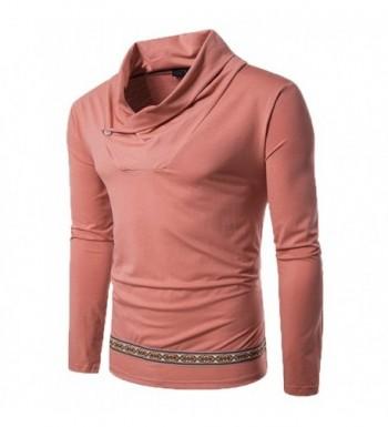 Zuckerfan Pullover Turtleneck Patchwork T Shirts