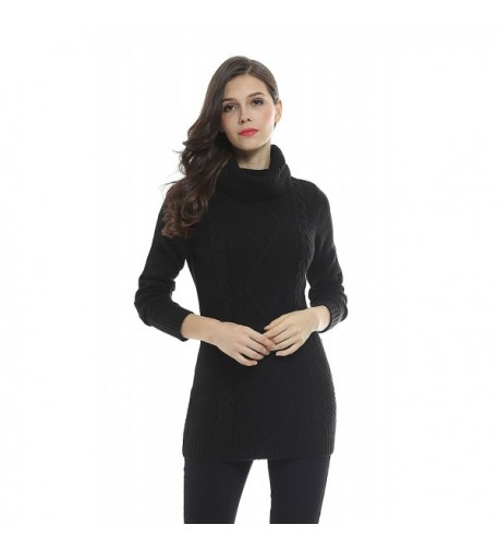 Sofishie Cowl Cable Pullover Sweater