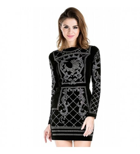 Missord Womens Studded Black Medium