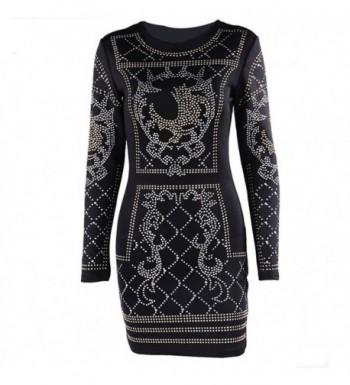 a1c97fe2b29a Missord Womens Studded Black Medium; Brand Original Women's Formal Dresses  for ...