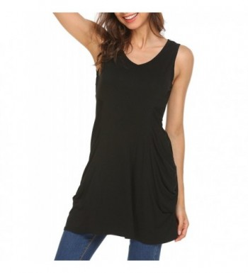 Womens Sleeveless Comfy Tunic Shirts