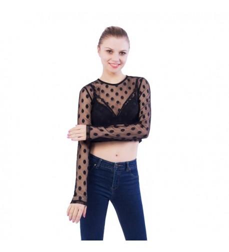 Merecho Womens Through Blouse Outwear