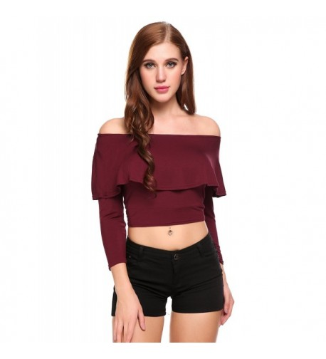 Zeagoo Women Shoulder Sleeve Blouses