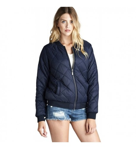 ToBeInStyle Womens Collar Bomber Jacket