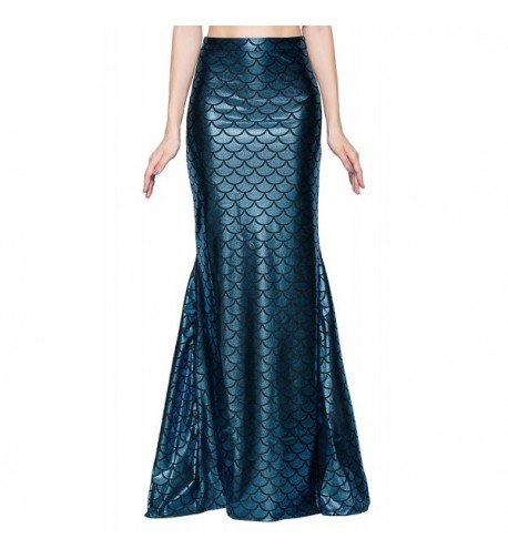 Jescakoo Wetlook Mermaid Sequin Skirts