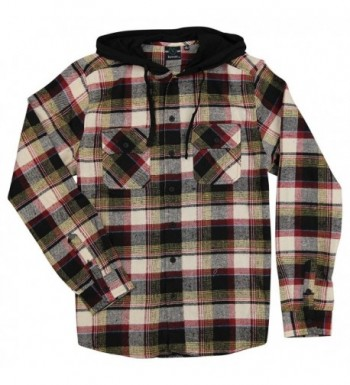 Burnside Hooded Sleeve Flannel X Large
