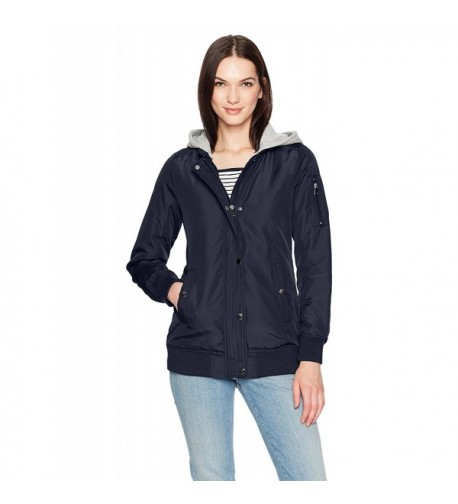 Sebby Womens Bomber Jacket Fleece