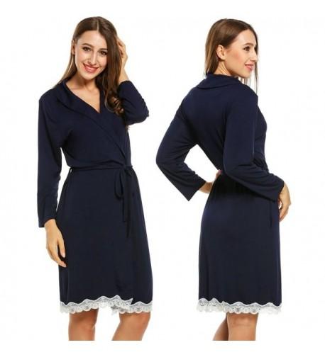 CNlinkco Womens Bathrobe Loungewear Sleepwear