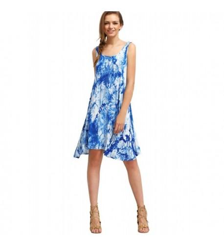 Milumia Womens Tie dye Sleeveless Summer
