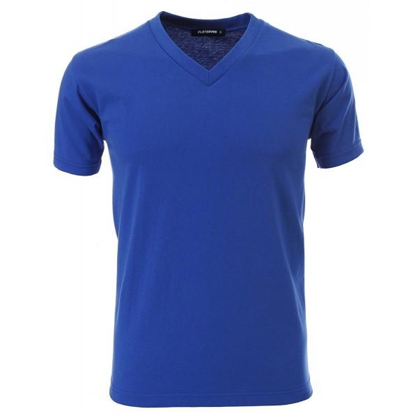 FLATSEVEN V Neck Cotton T Shirts TVS01