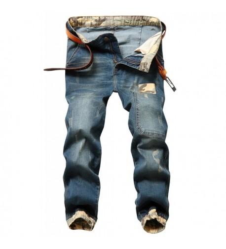 Stretch Tapered Denim Jeans Light