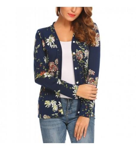 Mofavor Womens V Neck Cardigan Sweater
