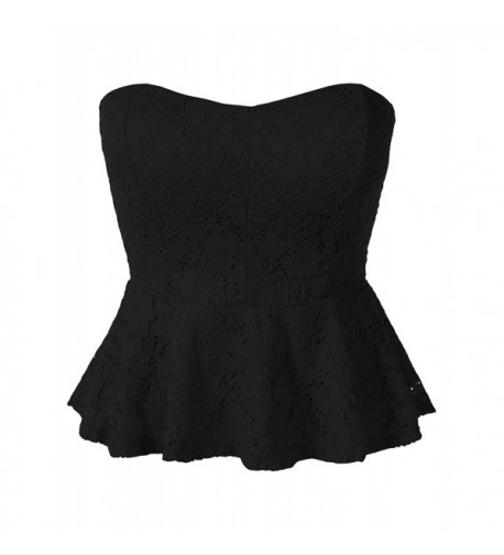 7Encounter Crochet Peplum Black Small