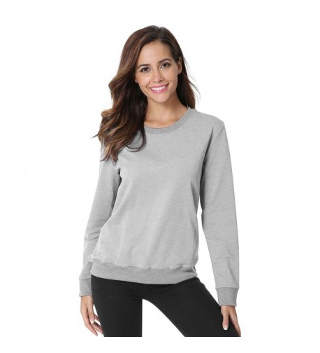 Juniors Casual Crewneck Pullover Sweatshirt