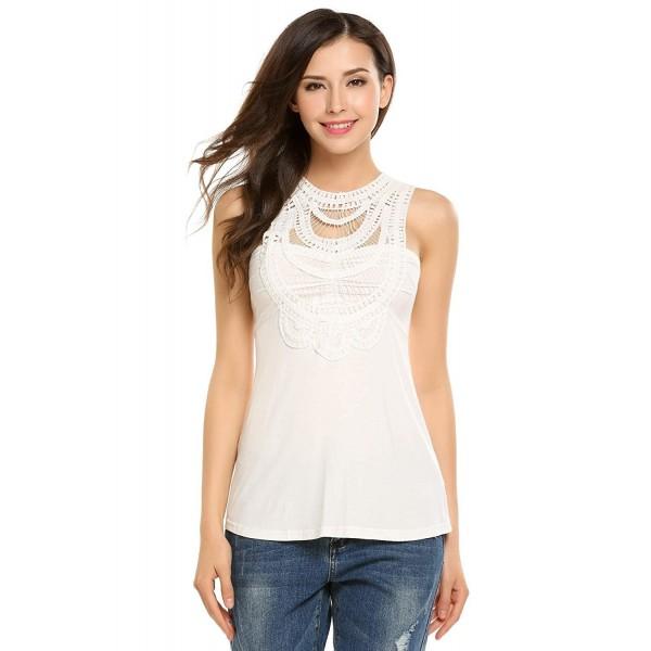 d6051cda8b357a Womens Crochet Tank Tops Cotton Sleeveless Shirts Summer Sexy ...