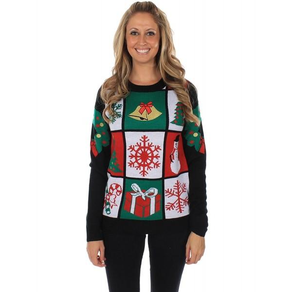 Womens Tacky Christmas Sweater Panel