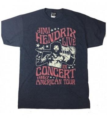 Hendrix Spangled Concert T Shirt Heather