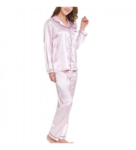 VlSl Two Piece Button Down Sleepwear Loungewear