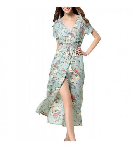 ARANEE Womens Button Floral Bohemian