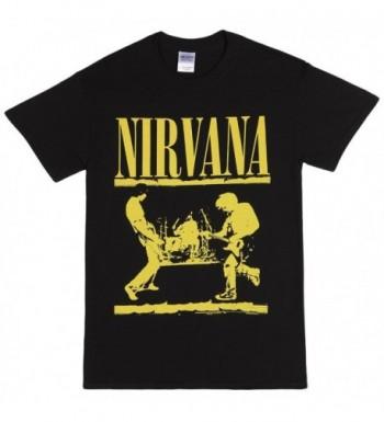 Nirvana Band Yellow T shirt Black