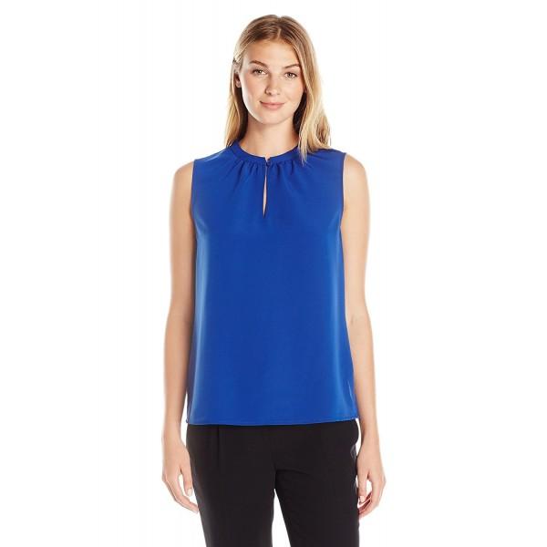 405fdfe73ef48 Lark   Ro Women s Printed Single-Button Sleeveless Top - Majestic ...