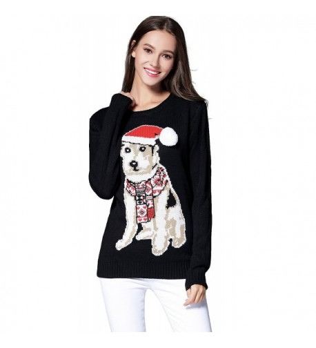 Womens Christmas Knitted Sweater Pullover