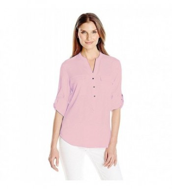 Ivanka Trump Womens Button V Neck