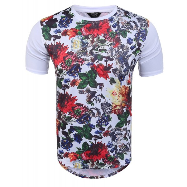 Coofandy Hipster Graphic Floral T shirts