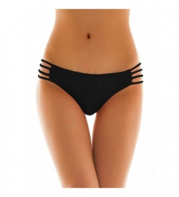 d66e360c88 Womens Sexy Solid Strappy String Bikini Panties Hipster Thong ...