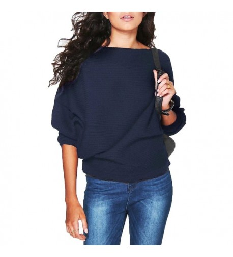 FOUNDO Batwing Knitted Pullover Knitwear