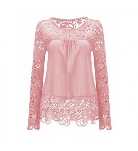 BubbleKiss Patchwork Hollow Casual Blouse