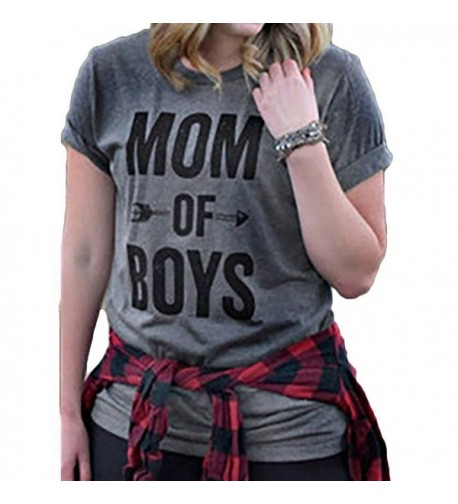 Womens Letter Casual Sleeve T Shirt