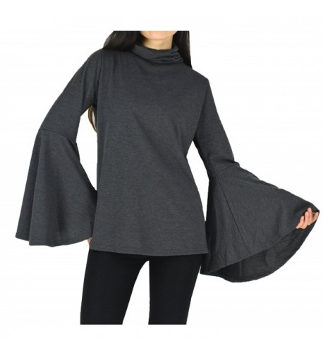 YSJ Womens Pullover Turtleneck Sleeves