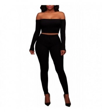 Womens Knitted Shoulder Jumpsuits Black S