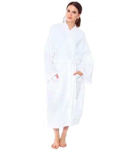 White Waffle Robe Unisex Cotton
