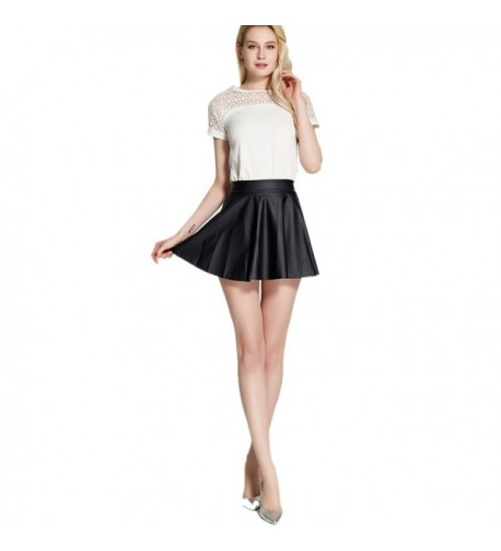 Leatherette Short Skirt Women Winter