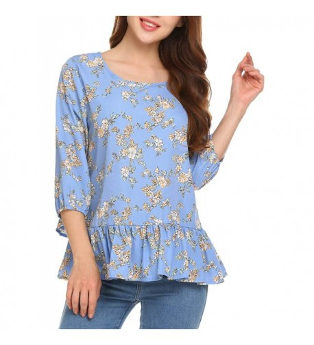 Zeagoo Womens Sleeve Floral Pattern3