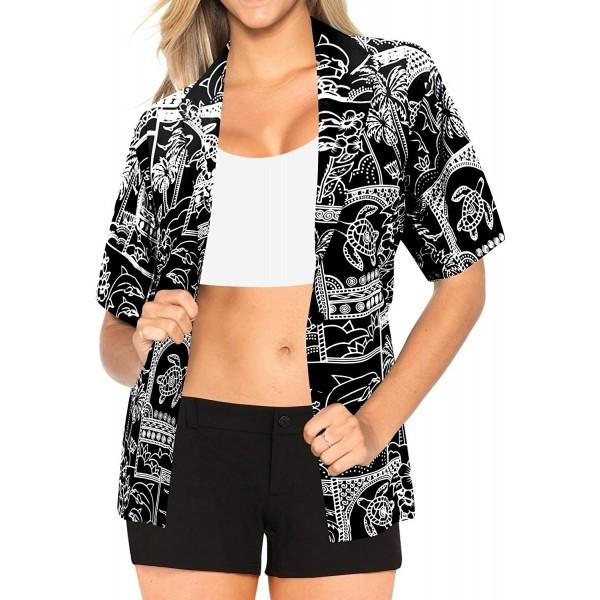 9518f2a86 Blouses Button Up Hawaiian Shirt Womens Beach Collar Short Sleeves ...