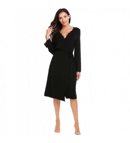 Ekoauer Sleeve Bathrobe Nightwear Women