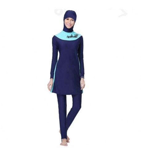 Womens Floral Swimsuit Islamic Burkini